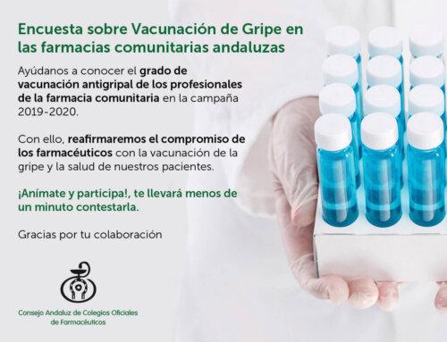 Encuesta sobre vacunación de gripe dirigida a las farmacias andaluzas