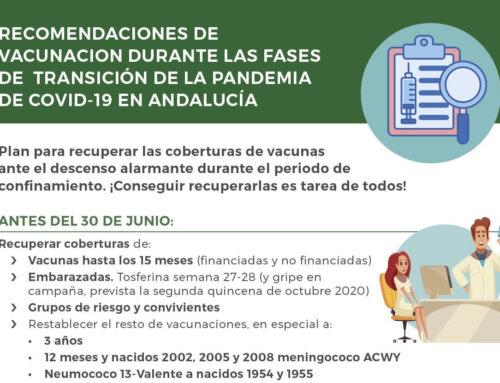 Campaña de recuperación de coberturas vacunales y decálogo para embarazadas