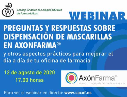 Nuevo Webinar Preguntas y Respuestas sobre Dispensación de Mascarillas en AxónFarma®