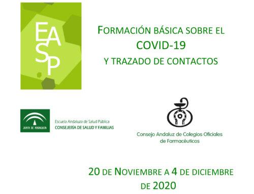 Curso de formativo sobre COVID-19 y trazados de contactos para farmacéuticos comunitarios