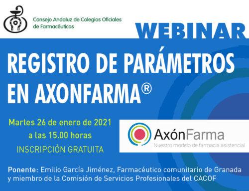 """Webinar """"Registro de Parámetros en AxónFarma"""""""