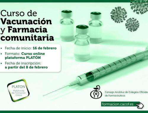 """Abierto el plazo de inscripción para el Curso """"Vacunación y Farmacia Comunitaria"""""""