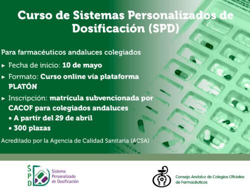 En marcha la segunda convocatoria del Curso online de SPD destinado a farmacéuticos andaluces