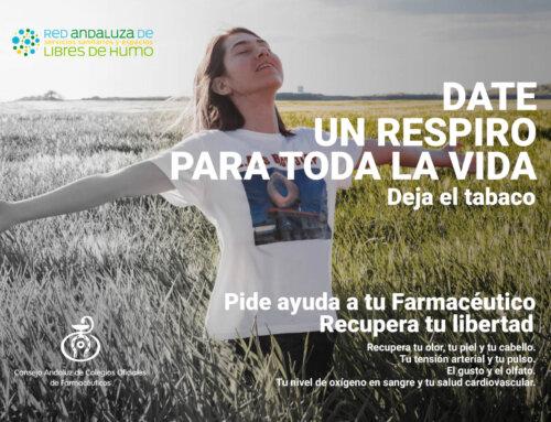 La Farmacia andaluza lanza una campaña para fomentar la cesación tabáquica y ofrecer el apoyo de los farmacéuticos a las personas que quieran dejar de fumar
