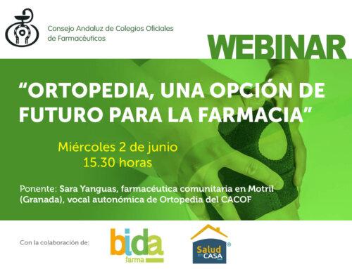 El CACOF organiza el webinar «Ortopedia, una opción de futuro para la farmacia «