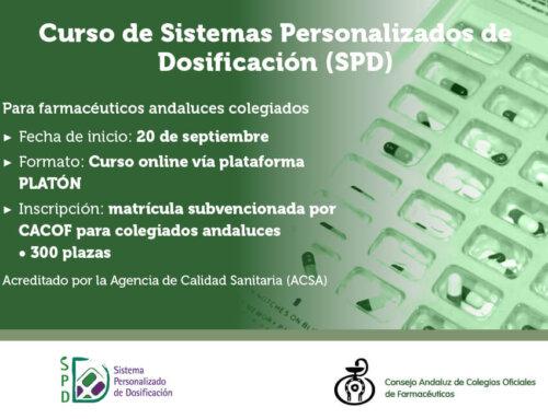 El CACOF organiza la tercera convocatoria del Curso online de Sistemas Personalizados de Dosificación (SPD)